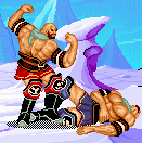 Muscle men fighting in ice covered plains. What more can you ask for?