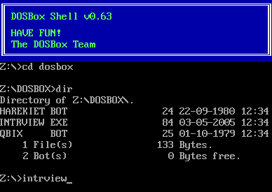 You never knew DOSBox could be used like this, did you...
